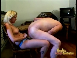 Smoking hot femdom session with a slutty blonde sex bomb