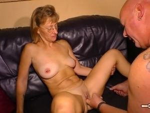 Fat man's prick is all a kinky mature chick wants to play with