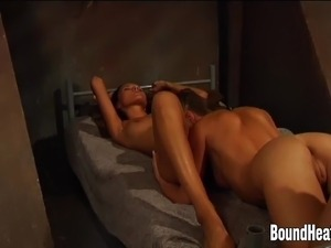 Young Branded Slave Using Strapon on Lesbian Mistress
