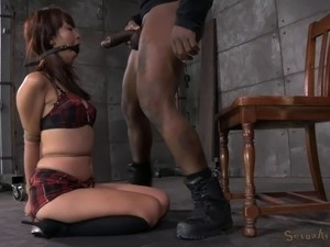Sexy slave nice ass getting spanked lovely in BDSM porn