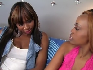 WANKZ- Ebony Lesbians Honey Droppz and Moni Bella Cum Togeth