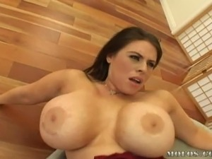 Brunette Babe With a Massive Rack Fucks a Big Black Cock