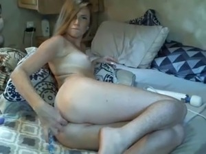 Light haired slender and quite leggy chick flashed her small tits on webcam