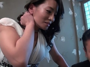 Dudes drills hairy pussy of nasty Asian chick Rei Kitajima