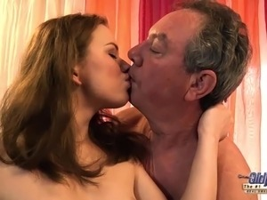 Old Young Grandpa Fucks Teen Babysitter and Fingers Virgin