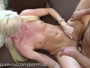 Blonde British Babysitter Gets Fucked by Old Man