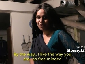 Bored Indian Housewife Begs For Three Sum (English subs)