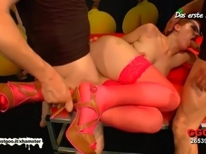 Little Emma's hardcore pounding - German Goo Girls