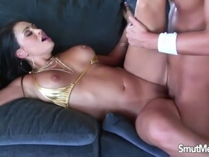 Hot MILF Claudia Valentine is fucked hard