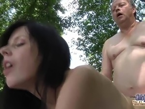OLD YOUNG Romantic Sex Outdoor Fat Old Man Beautiful Teen