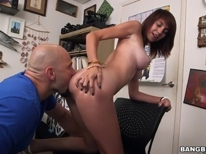 Cece Capella spreading to have her shaved cunt destroyed