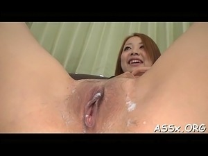 Amazing japanese anal toying