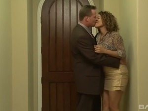 Curly haired nasty milf with hairy pussy feels horny after the date