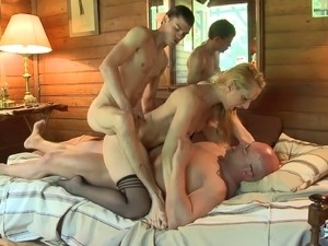 Louise Du Lac joins a couple of fellows for a threesome