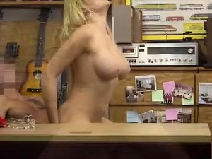 Blonde Skyla Novea Mounted And Doggysytle Fuck In Pawn Shop