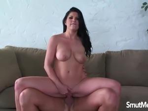 very hot brunette fucking hard