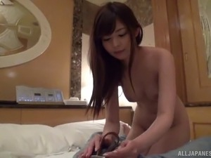 Japanese darling has her ass grabbed to get pounded doggystyle