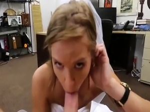 Sexy and indespaired Bride fucked the pawnshop owner