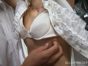 Asian Babe With A Perfect Ass Gets Her Pussy Toyed On A Bus
