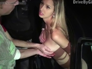 Kitty Jane arrived to a public sex dogging gang bang orgy