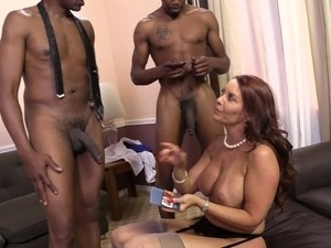 Sizzling Cougar With Big Beautiful Tits Enjoying A Hardcore Interracial...