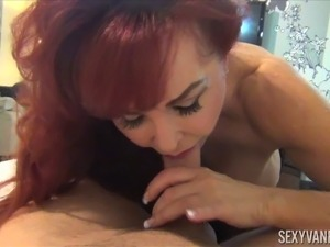 Sexy Vanessa is a stunning redhead who cannot resist a dick