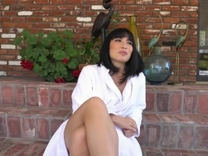 Rina Ellis is a hot babe who loves opening her legs for a dick