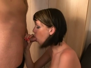 Brunette dominatrix nails stud's ass with a strap on