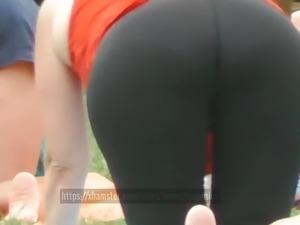 PAWG Showing Off That Juicy Ass Visible Panties Spandex