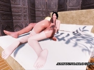 YOUNG Blonde Girl Fucked Doggystyle Virtual 3D Simulation!