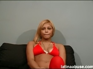 19 year old Pearl deepthroats and pukes on 2 gringo dicks