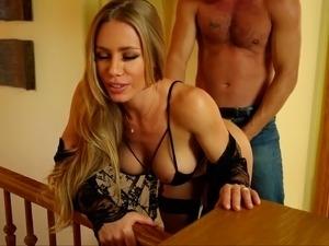 Naughty blonde submits to her boyfriend
