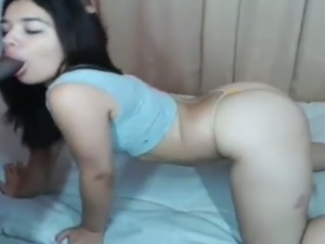 Sexy Petite Girl Sex With BF On Cam