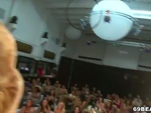 Horny girls show off their blowjob skills