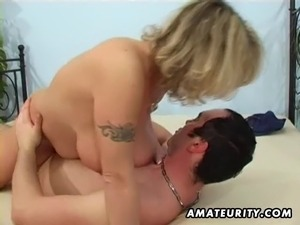Busty amateur wife sucks and fucks with facial cumshot