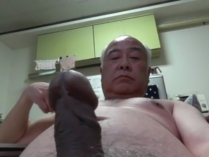 Japanese old man all the naked handjob
