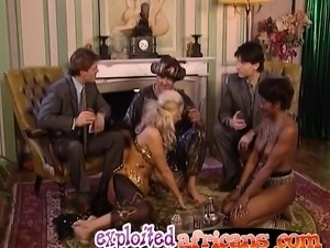 Interracial group fucking with hot Africans and Caucasians