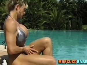 Outdoor Lesbian Fun With Muscled Babes