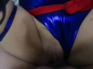 Wife dressed as Psylocke, getting fucked