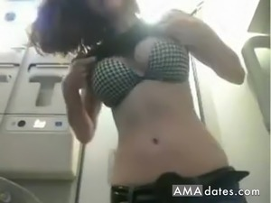 Girl is so fucking horny she cant wait and start to play with her pussy