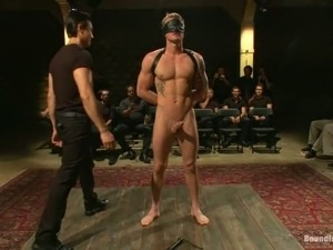 Josh West gets fucked by several guy at private gay party
