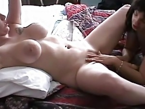 Big tits blonde wife gets pussy licked by petite amateur