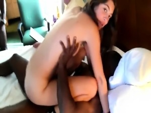 Interracial Double Penetration and anal creampie