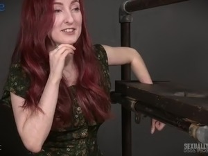 Frizzy haired red haired submissive slut Penny Lay is fixed and fucked hard