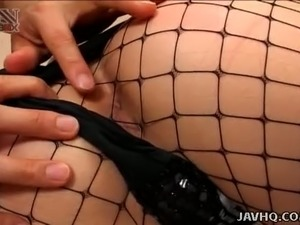 Svelte cute Japanese maid Shinobu Kasagi lets dude tickle her fuck holes