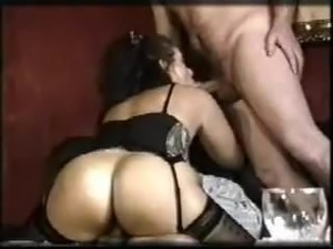Vintage German Effie Balconi Saggy Tits 2 cocks Stockings