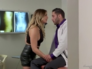 Naughty bootyful Blair Williams lures horny doctor for some steamy fuck