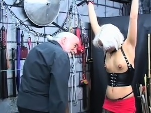 Amateur playgirl pussy shagged in servitude scenes