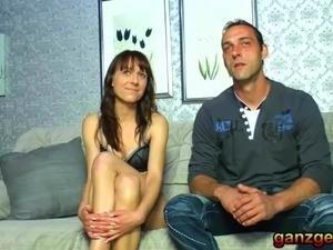 Amateur German Mature swinge couple fuck a stranger together