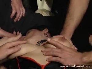 I am Pierced Slave with pumped pussy and piercings